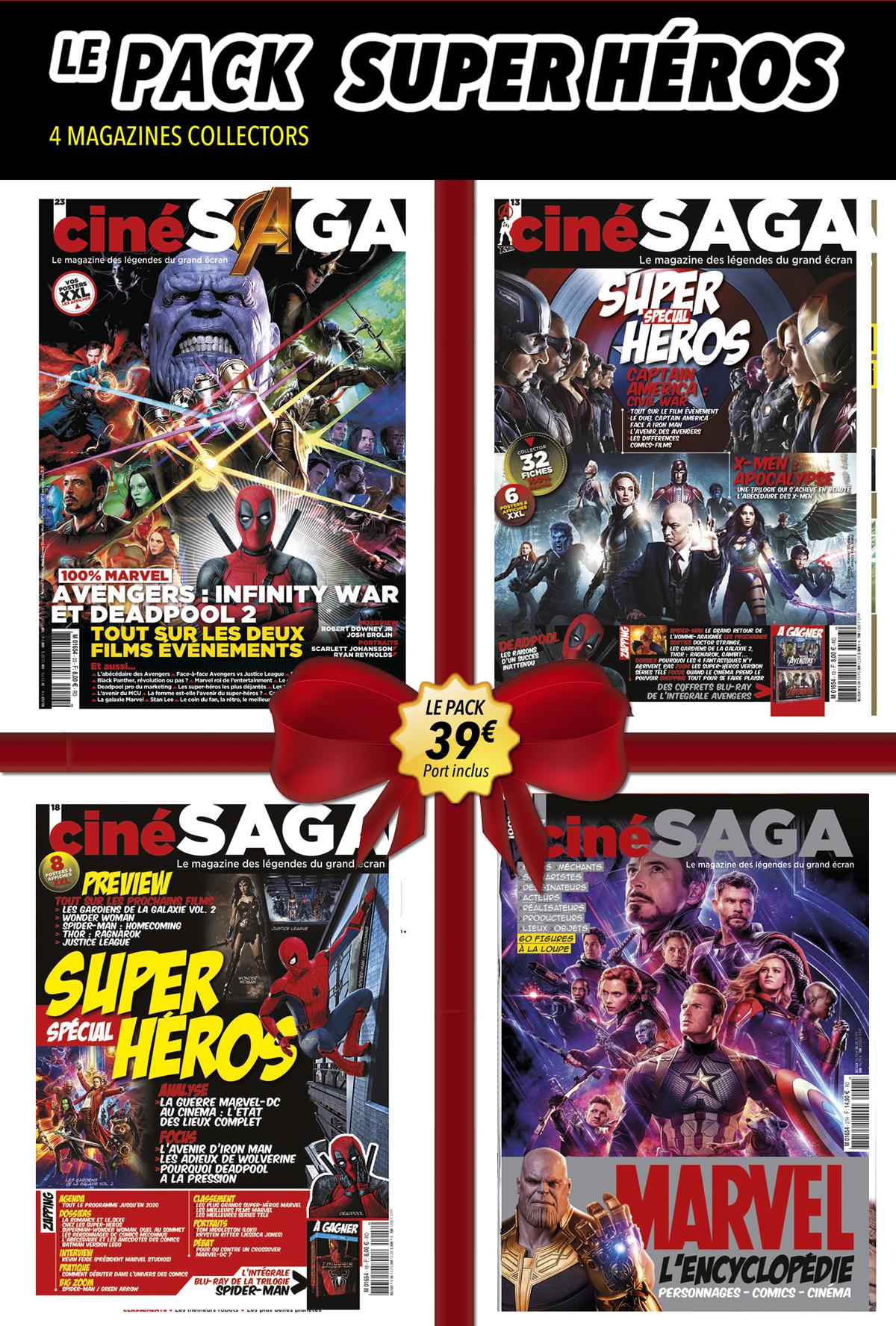 Cine Saga Pack Super Heros Make My Mag Shop